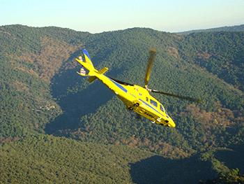 Hélicoptère INAER en vol